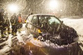Unfälle bei Schneeglätte / DE Ainring