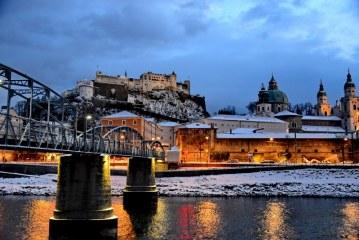 Stadtleben trotz Kälte und Schnee / AT Salzburg