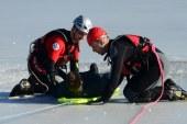 Eis-Übung der Wasser-Rettung / AT Salzburg