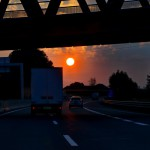 Sonnenaufgang auf der A1 / AT