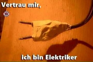 Vertraue mir, ich bin Elektriker