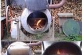 Bauarbeitern beim Grillen