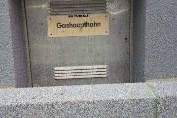 Gashahn, im Notfall abdrehen