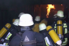 Exercise in a fire container