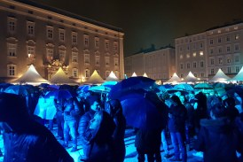 2018/2019 Silvesterfeier AT Salzburg: Feierlaune bei strömender Regen