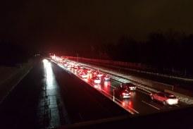 05.01.2019 AT Salzburg A10: Stau im Rückreiseverkehr in Richtung Deutschland