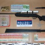 30.01.2019 AT Klagenfurt: Suchtmittel und Waffen aufgefunden