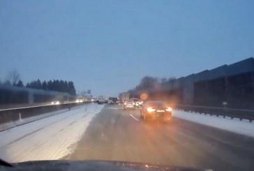 23.01.2019 AT Westautobahn: Glatteis und Unfälle