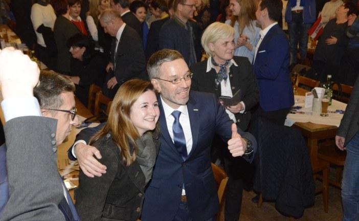 01.02.2019 AT Salzburg: FPÖ Wahlkampfveranstaltung im Stieglkeller