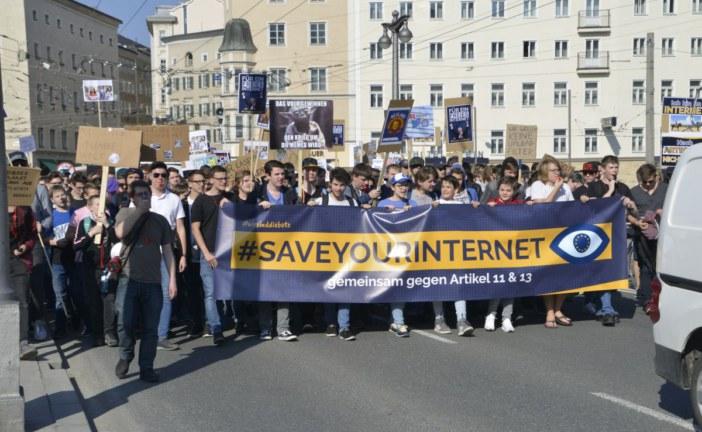 23.03.2019 AT Salzburg: Europaweite Demo gegen EU-Urheberrecht-Richtlinie Artikel 13