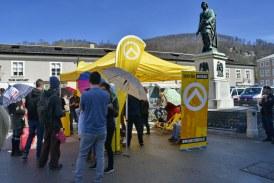 30.03.2019 AT Salzburg: Identitäre Bewegung und Gegendemonstration