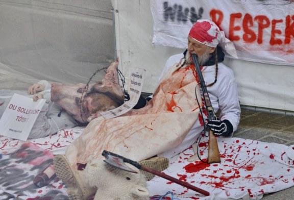 03.03.2019 AT Salzburg: Demonstration gegen Fleischverzehr