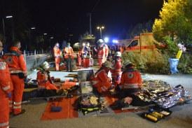 18.10.2019 DE Bischofswiesen: Brücke stürzt auf Bahngleis – viele Verletzte – Übung der Einsatzkräfte