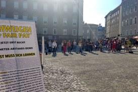 17.06.2020 AT Salzburg: Kunst muss sich lohnen – Schweigedemo